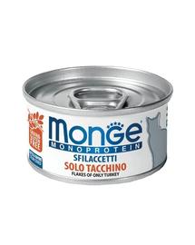 MONGE Monoprotein Cat hrană umedă pentru pisici, curcan 80g