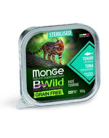 MONGE BWild Grain Free Sterilised hrană pentru pisici sterilizate, cu ton 100g