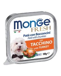 MONGE Fresh hrană umedă pentru câini sub formă de pate, curcan 100 g