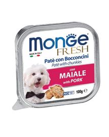 MONGE Fresh hrană umedă pentru câini sub formă de pate, cu porc 100 g