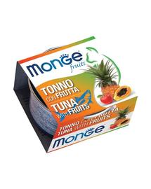 MONGE Fruit Cat hrană umedă pentru pisici, ton și fructe 80 g