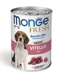 MONGE Fresh Dog hrană umedă pentru câini, cu vițel 400g