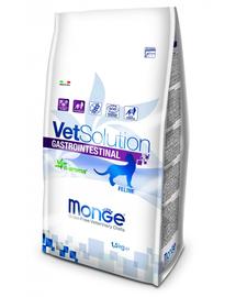 MONGE Vet Solution Cat Gastrointestinal hrană uscată dietetică pentru pisici cu probleme gastrointestinale 1,5 kg
