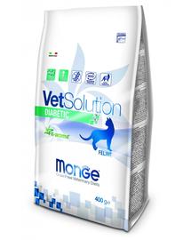 MONGE Vet Solution Cat Diabetic hrană uscată dietetică pentru pisici cu diabet 400g