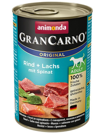 ANIMONDA GranCarno Adult carne de vita, somon si spanac 800 g