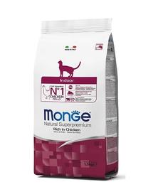 MONGE Cat Indoor hrană uscată pentru pisici adulte, cu pui 400 g