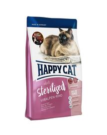 HAPPY CAT Hrana uscata pentru pisici adulte sterilizate, cu vita bavareza, 300 g