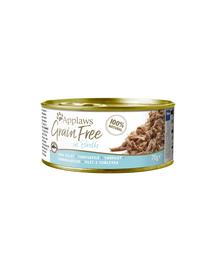 APPLAWS Cat Tin Grain Free - Hrană umedă pentru pisici - ton în bulion - 70g