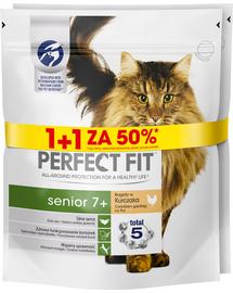FIT PERFECT (Senior 7+)  - Hrană uscată pentru  pisici adulte / vârstnice - bogat în pui- 6 x 750g