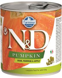 FARMINA N&D Adult Hrană umedă cu mistreț, dovleac și măr 285 g