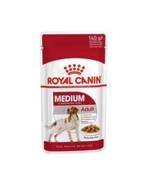 Royal Canin Medium Adult Hrană Umedă Câine 10x140 g