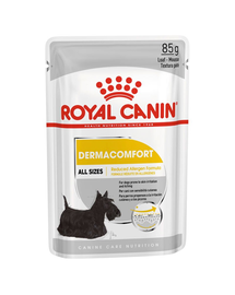 Royal Canin Dermacomfort hrana umeda caine pentru prevenirea iritatiilor pielii, 12 x 85 g