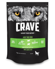 CRAVE Adult Lamb&Fresh Beef hrana uscata caini adulti, cu miel si vita 5 x 1 kg