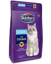 BUTCHER'S Functional Cat Sensitive hrana uscata pentru pisici, cu pui 800 g (2 + 1 GRATIS)