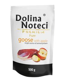 DOLINA NOTECI Premium Pure hrana umeda caini adulti, cu gasca si mar 12 x 500g