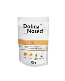 DOLINA NOTECI Premium hrana umeda caini adulti de rase mici, cu fazan, dovleac si paste 12 x 100g