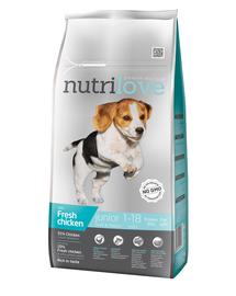NUTRILOVE Premium cu pui proaspăt pentru câinele junior de rasă mică & mijlocie - de 8 kg