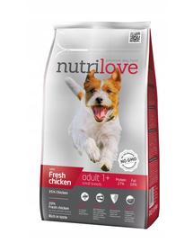 NUTRILOVE Premium cu pui proaspăt pentru adulți de talie mică -  8 kg