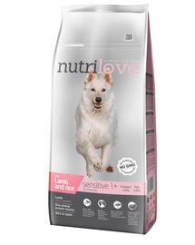 NUTRILOVE Premium cu miel și orez  DOG SENSITIVE - 12 kg