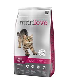 NUTRILOVE Premium hrană uscată pentru pisici, cu pui proaspăt 1,5 kg