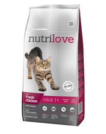 NUTRILOVE Premium cu pui proaspăt, pentru pisici adulte - 8 kg