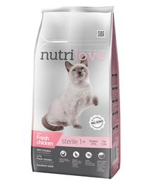 NUTRILOVE Premium hrana uscata pentru pisici sterilizate, cu pui proaspat 7 kg