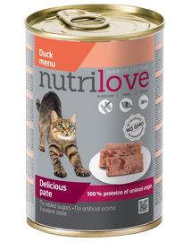 NUTRILOVE Pate de rață pentru pisică premium 400g