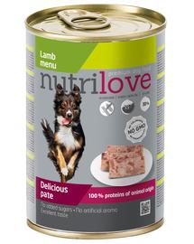 NUTRILOVE Premium Lamb Dog Pate 400g