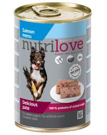NUTRILOVE Pate de somon premium pentru câini 400g