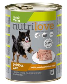 NUTRILOVE Pate de miel premium pentru câini 800g