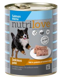 NUTRILOVE Premium de somon pentru câini 800g