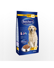 BUTCHER'S Dog Natural&Healthy hrana uscata caini adulti, cu pui 3 kg (3 + 1 GRATIS)