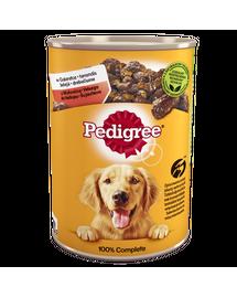 PEDIGREE Adult hrana umeda pentru caini adulti, vita in aspic 6x1200g + sosete Pedigree GRATIS