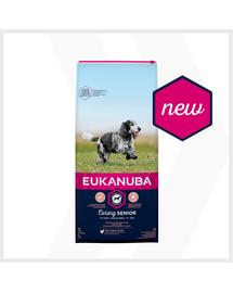 EUKANUBA Caring Senior Medium Breed hrana uscata caini seniori talie medie, bogat in pui 30 kg (2x15kg)