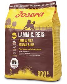 JOSERA Lamb & Rice hrana uscata caini adulti, miel si orez 5 x 900 g (4+1 GRATIS)