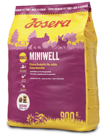 JOSERA Dog Miniwell hrana uscata caini adulti talie mica 5 x 900g (4+1 GRATIS)