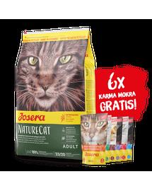 JOSERA NatureCat hrana uscata pisici adulte fara cereale 10 kg + 6 plicuri hrana umeda GRATIS