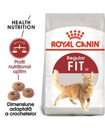 Royal Canin Fit32 Adult hrana uscata pisica cu activitate fizica moderata 20 kg (2 x 10 kg)