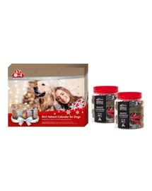 8in1 SET Calendar Advent cu recompense pentru caini  + 2 x SIMPLY FROM NATURE Baked Cookies recompense caini cu merisoare 220 g