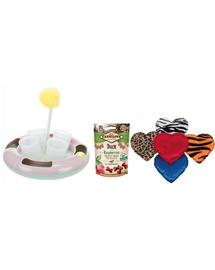 CARNILOVE SET recompense pentru pisici cu rata 50 g + Trixie jucarie Snack&Play + Trixie jucarie inima de plus