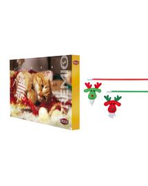 TRIXIE SET Calendar Advent cu recompense pentru pisici + undita pentru pisica