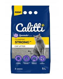 CALITTI Strong Așternut din bentonită cu levănțică, pentru pisici 5 L