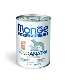 MONGE Monoprotein hrana umeda pentru caini, Rata, 400 g