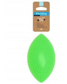 PULLER PitchDog, minge pentru caini, forma de Rugby, verde, 9 cm x 14 cm