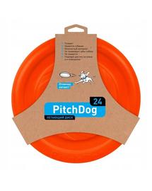 PULLER PitchDog Frisbee, 24 cm, portocaliu
