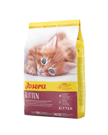 JOSERA Kitten hrana uscata pentru pisoi, femele gestante sau care alapteaza 10 kg + 2 plicuri hrana umeda GRATIS