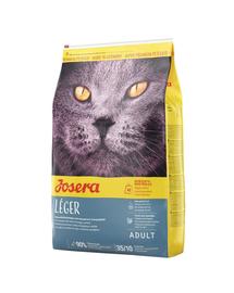 JOSERA Cat Leger hrana uscata pentru pisici sterilizate sau cu activitate fizica redusa 10 kg + 2 plicuri hrana umeda GRATIS