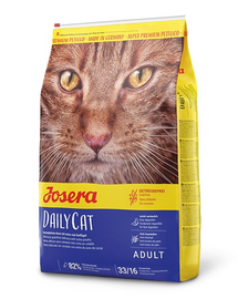 JOSERA Daily Cat hrana uscata fara cereale pentru pisici adulte 10 kg + 2 plicuri hrana umeda GRATIS