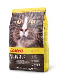 JOSERA Naturelle hrana uscata fara cereale pentru pisici dupa sterilizare/castare 10 kg + 2 plicuri hrana umeda GRATIS