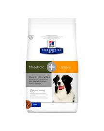 HILL'S PD Canine Hrana uscata pentru caini adulti cu probleme metabolice si urinare 2kg